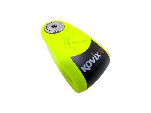 Traba Disco Kovix Con Alarma Verde Perno 6mm