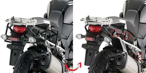 Brazos Monorack Soporte Baul Kappa KLR3105 Suzuki V- Strom