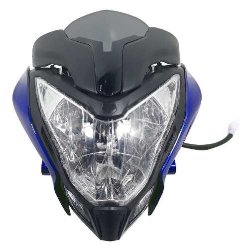 Optica Completa Mascara Bajaj Rouser Ns 200 Azul Yoyo
