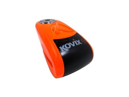 Traba Disco Kovix Con Alarma Naranja Perno 10mm