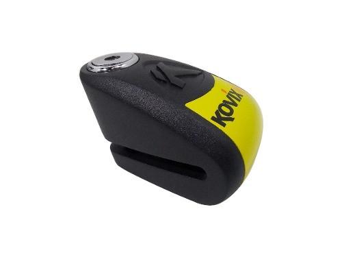 Traba Disco Kovix Con Alarma Negro Perno 6mm