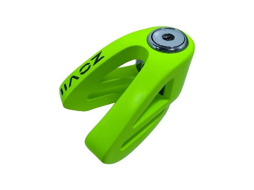 Traba Disco Zovii Sin Alarma Verde Fluor Perno 6mm