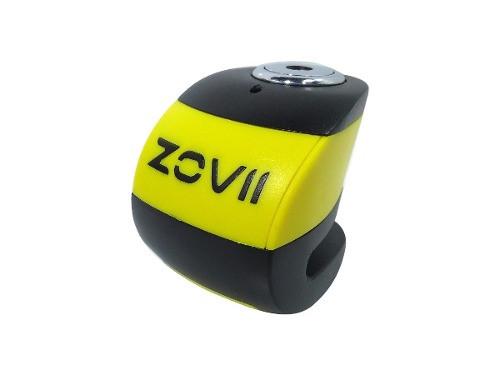 Traba Disco Zovii Con Alarma Negro Amarillo Perno 6mm