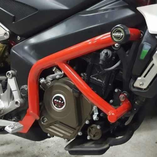 Defensa Lateral Motor Roja Cott Bajaj Rouser Ns 200