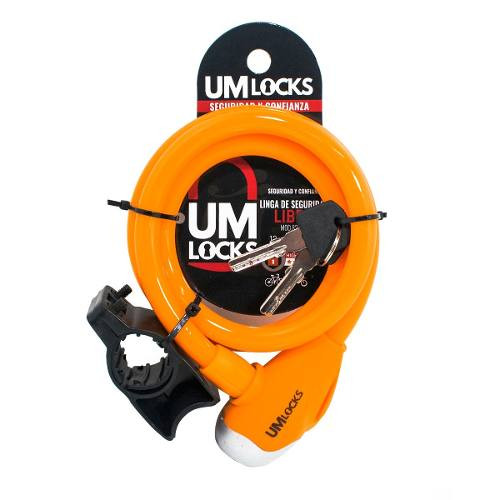 Linga Seguridad Bici Moto Um Locks 8210 q Libra Colores 1mt