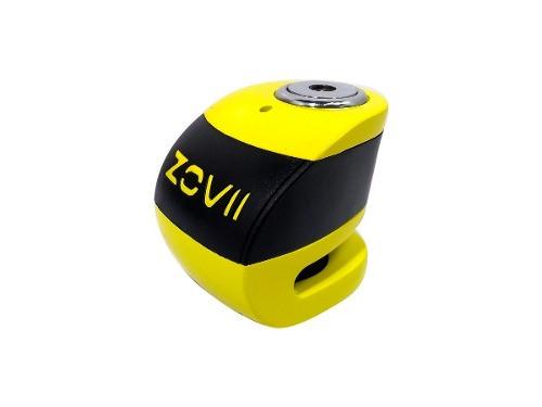 Traba Disco Zovii Con Alarma Amarillo Perno 6mm