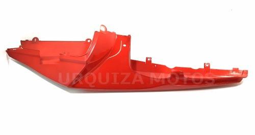 Cacha Bajo Asiento Zanella Rz 25 Derecho Rojo Con detalle
