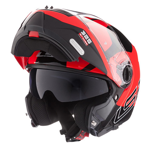 Casco Rebatible LS2 FF 325 Strobe Zone Rojo