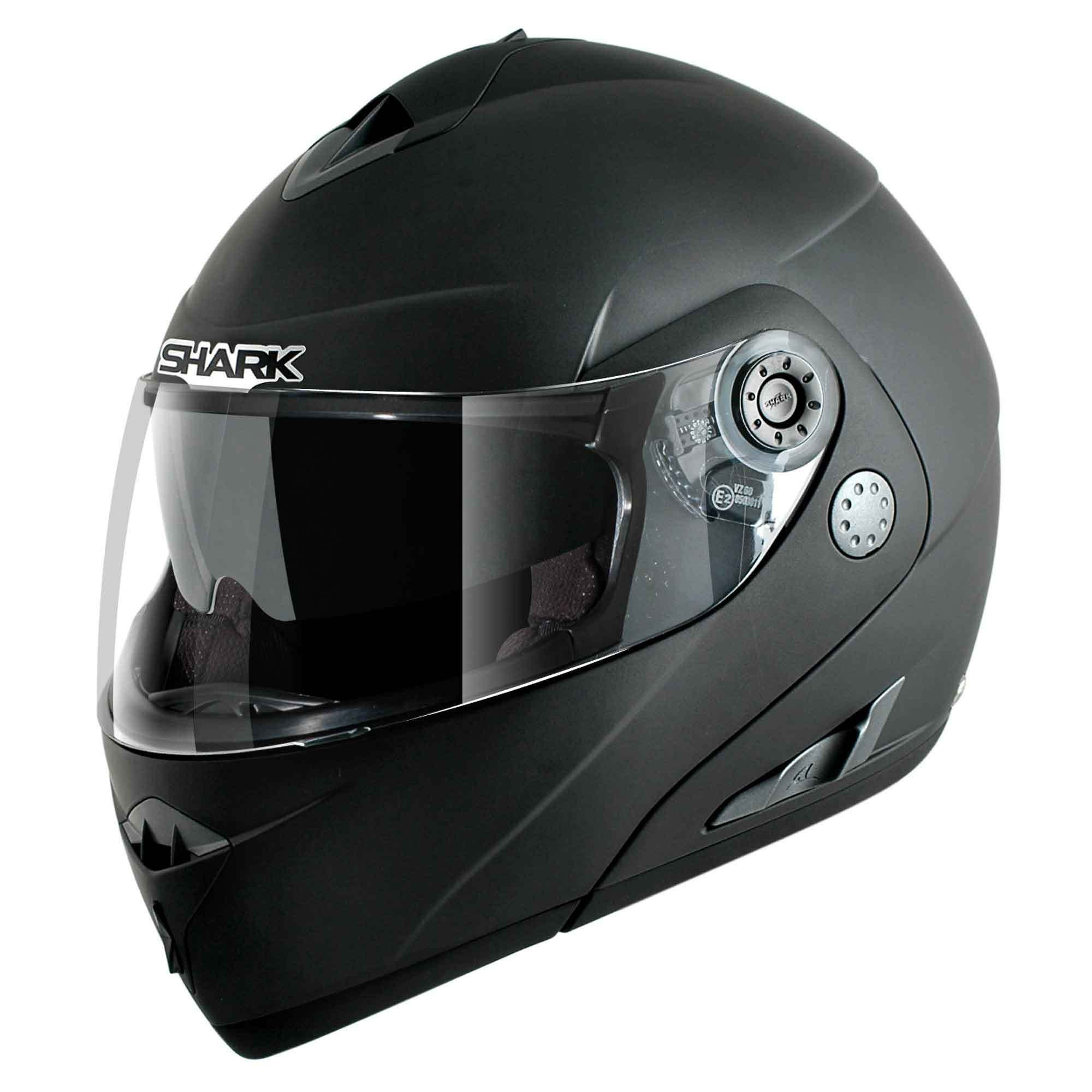 Casco Rebatible Shark Openline Prime Negro Mate