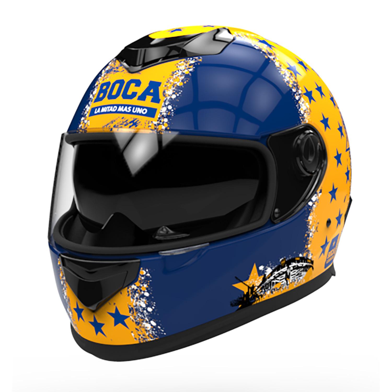 Casco Integral Hawk RS11 Futbol Boca Juniors