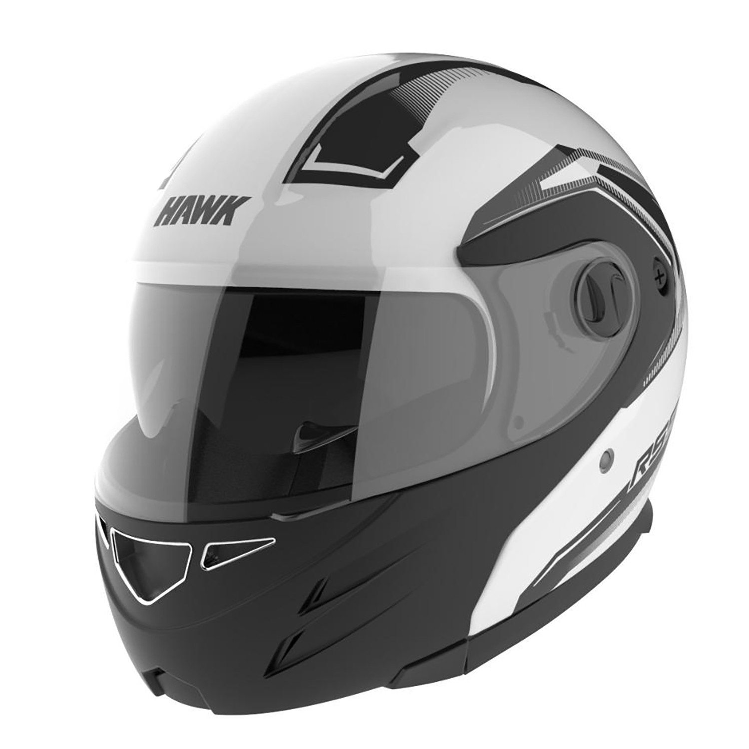 Casco Rebatible Hawk RS5 Vector Blanco Negro