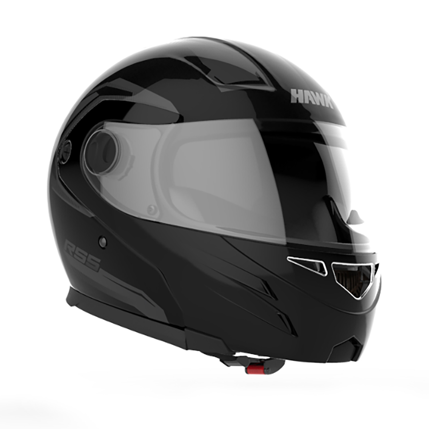 Casco Rebatible Hawk RS5 Vector Negro Brillo
