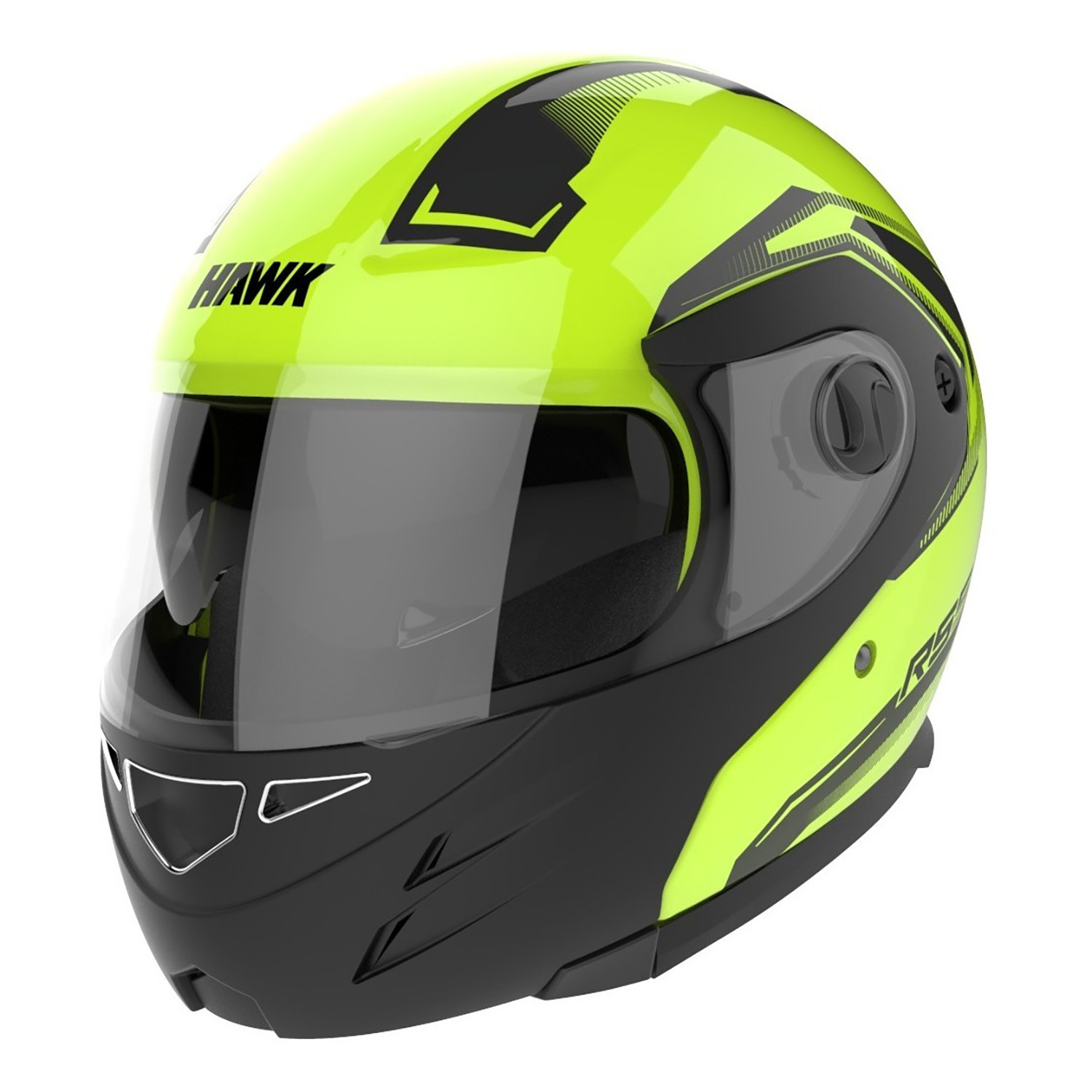 Casco Rebatible Hawk RS5 Vector Negro Fluo