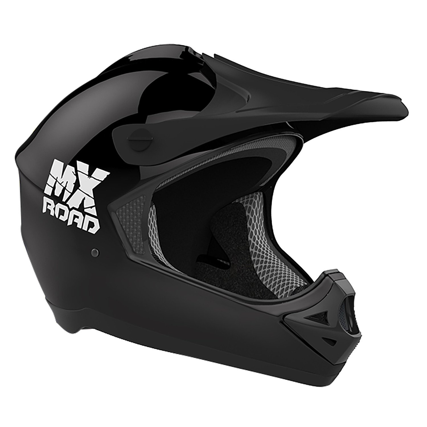 Casco Cross Halcon Mx Road Negro