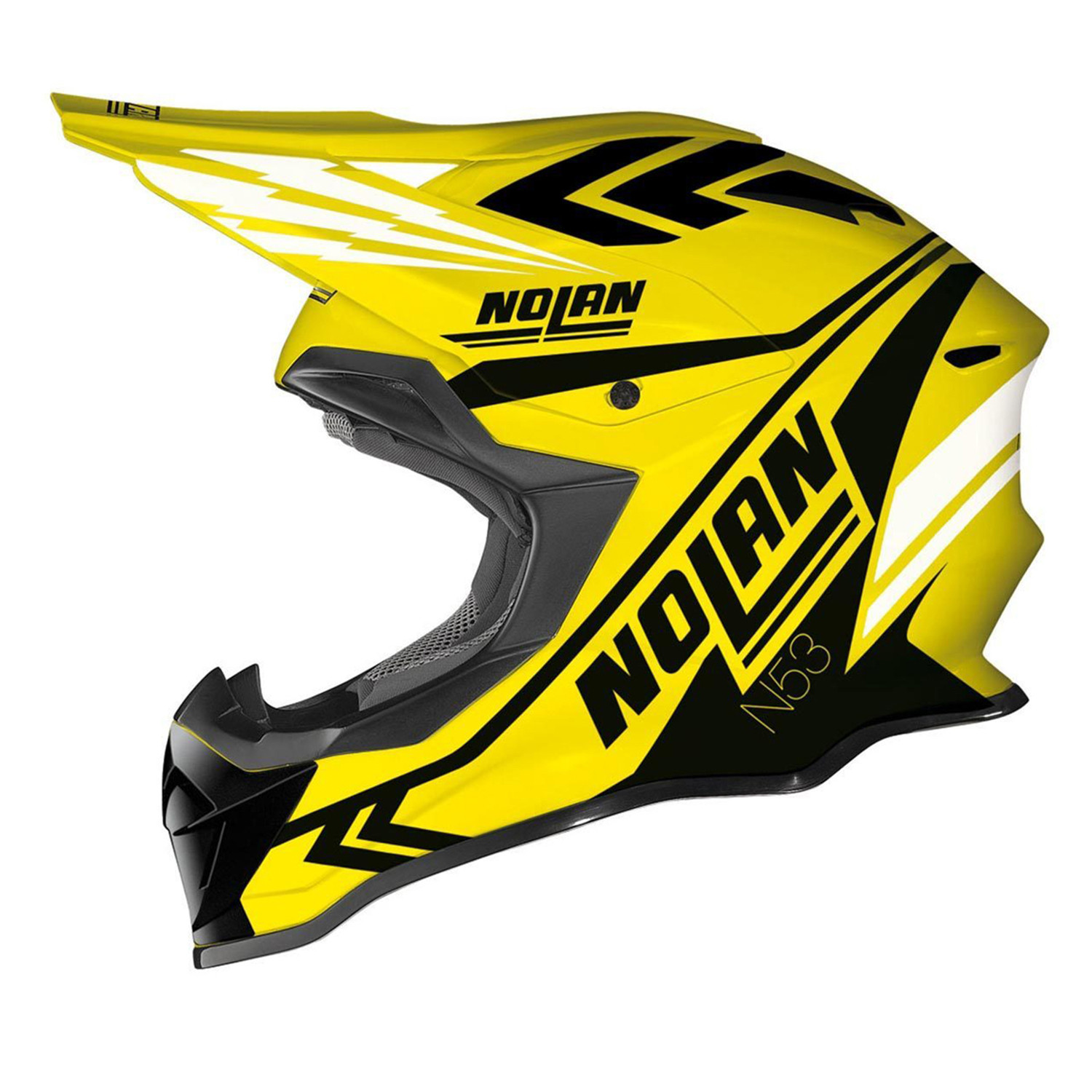 Casco Cross Nolan N53 Logic Amarillo