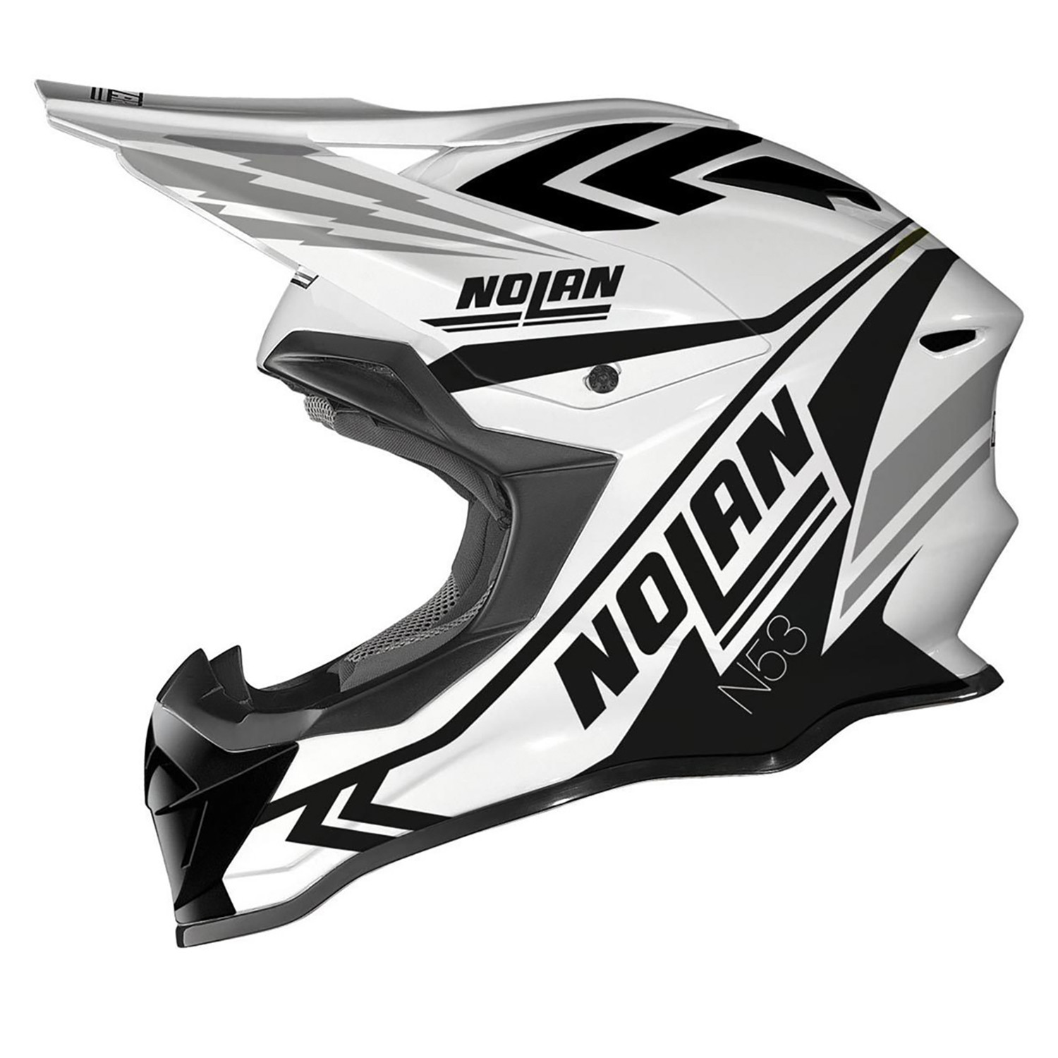 Casco Cross Nolan N53 Logic Blanco