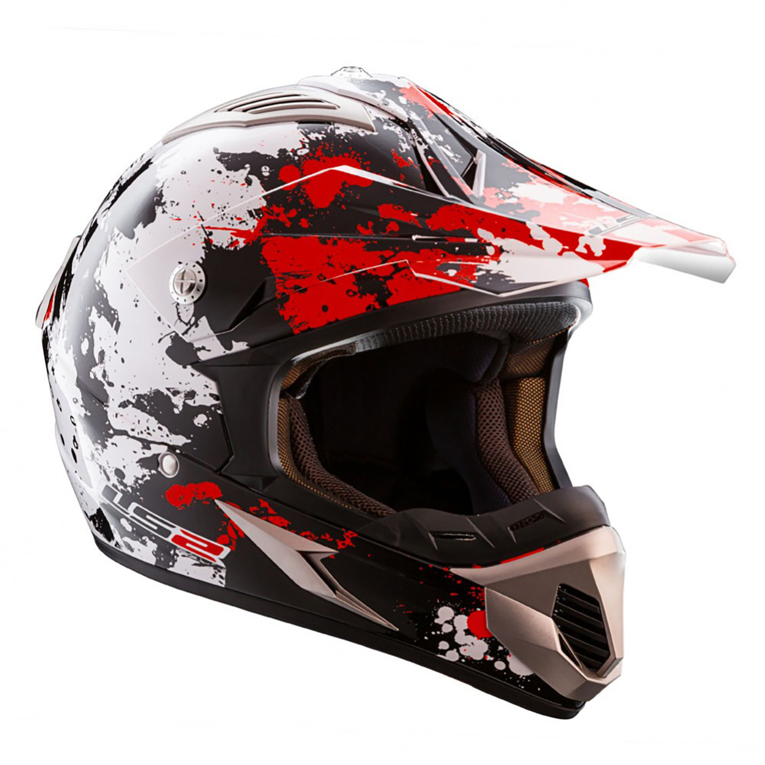 Casco Cross LS2 MX 433 Blast Rojo