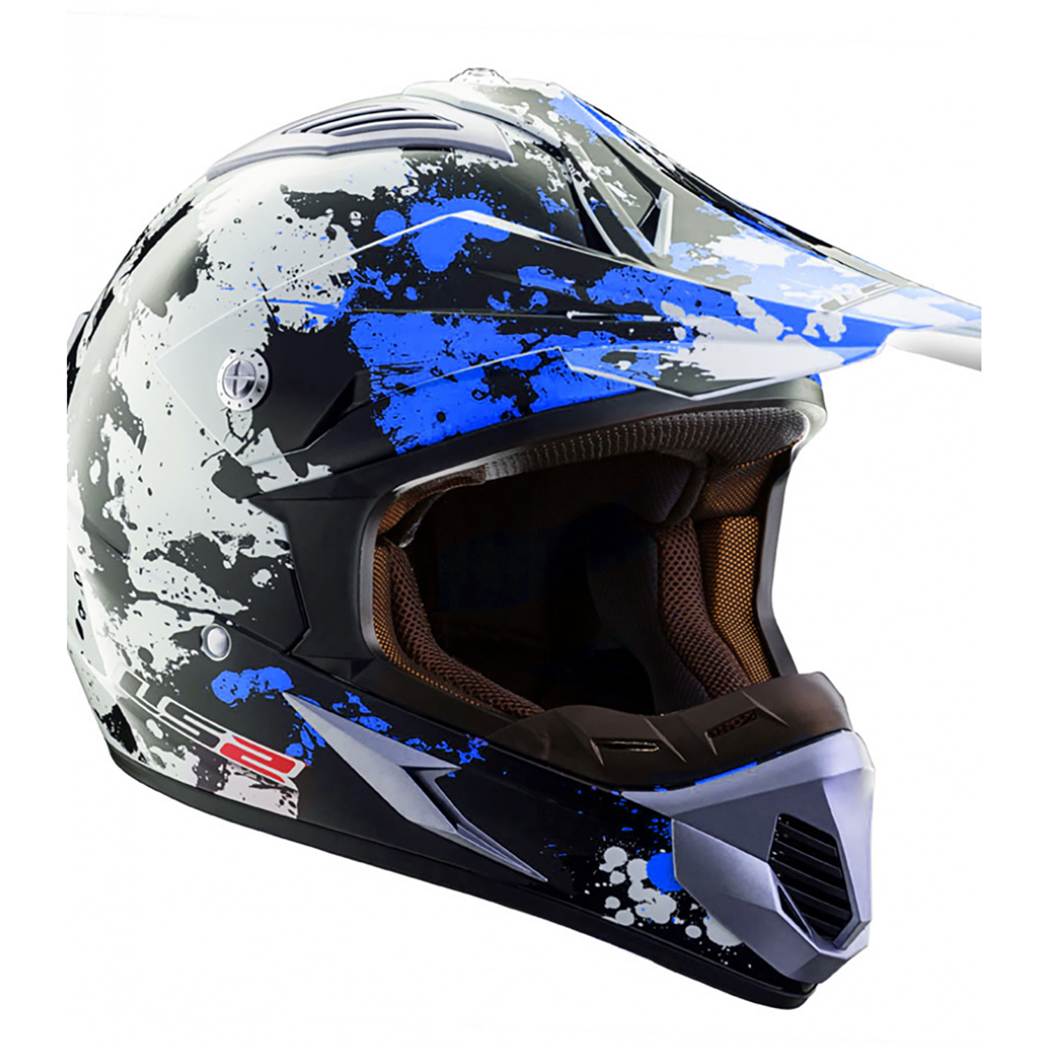 Casco Cross LS2 MX 433 Blast Azul