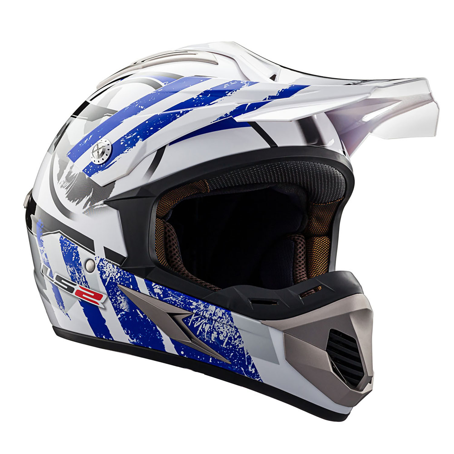 Casco Cross LS2 MX 433 Stripe Azul