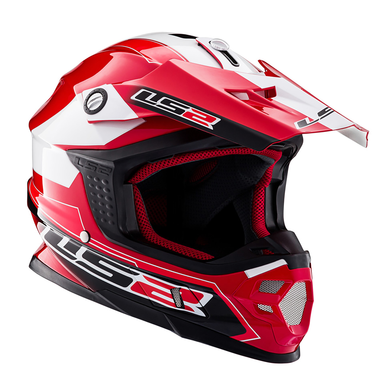 Casco Cross LS2 MX 456 Launch Rojo