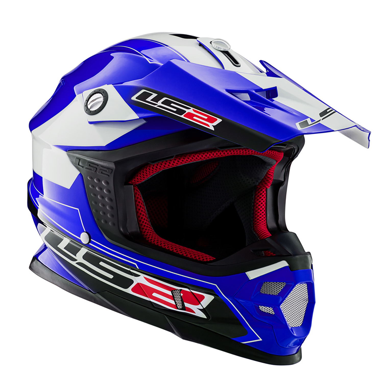 Casco Cross LS2 MX 456 Launch Azul