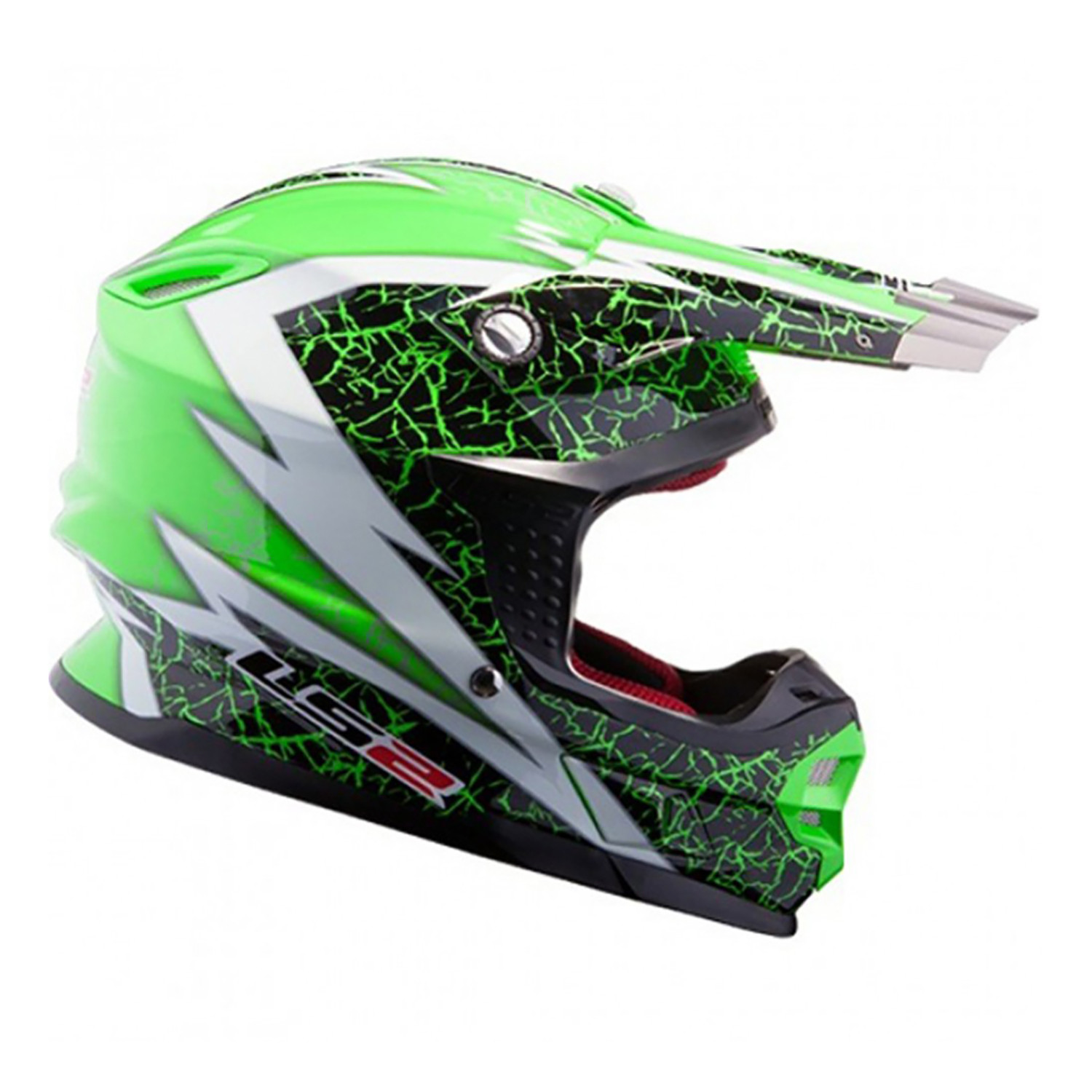 Casco Cross LS2 MX 456 Craze Verde