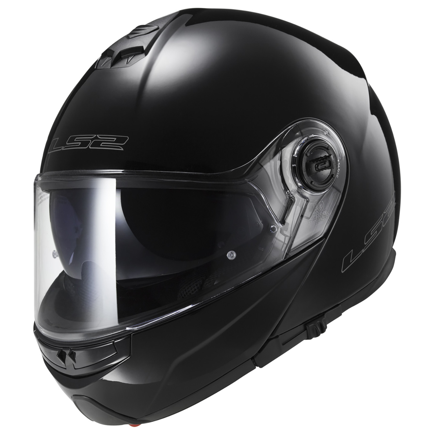Casco Rebatible LS2 FF 325 Strobe Negro Brillo
