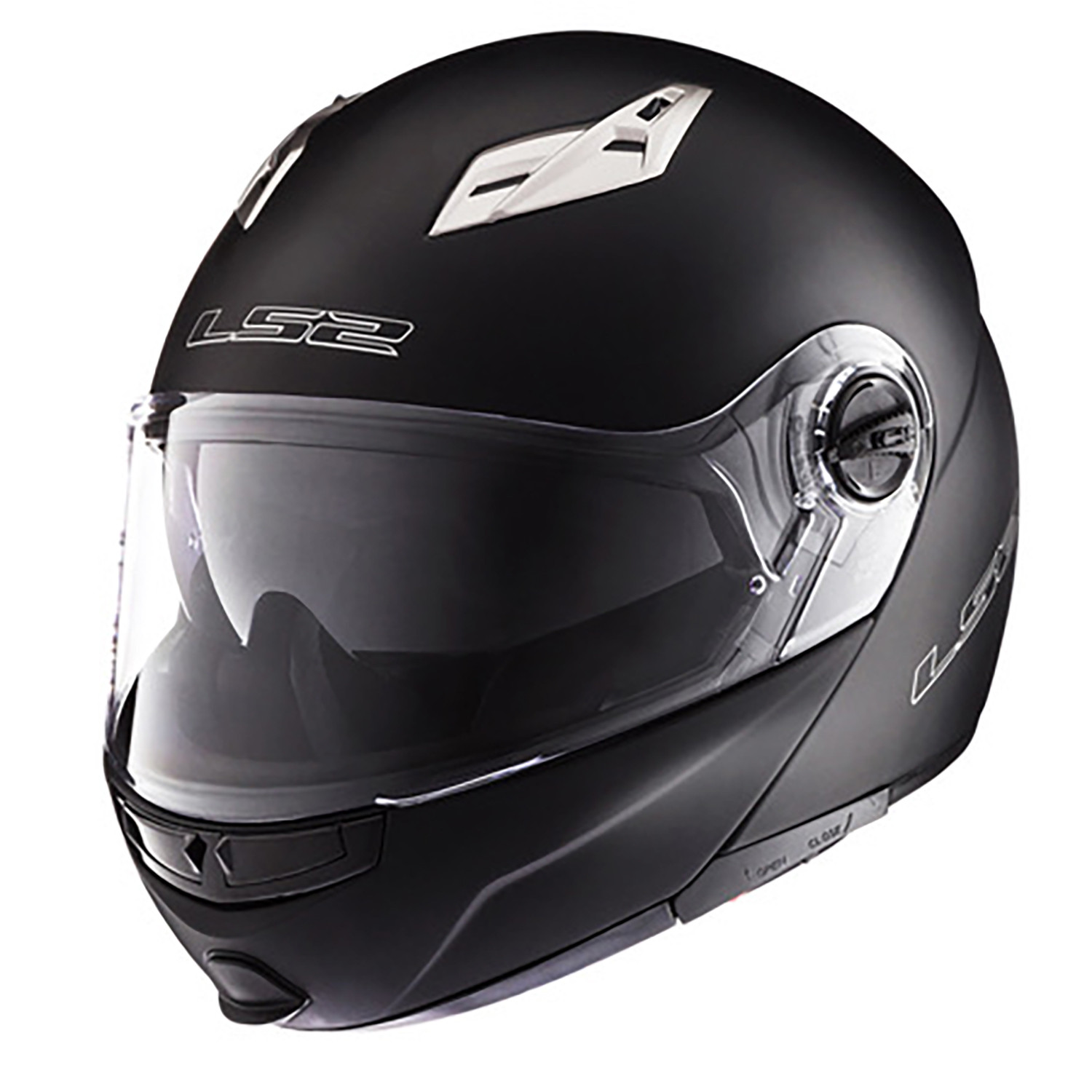 Casco Rebatible LS2 FF 370 Easy Negro Brillo