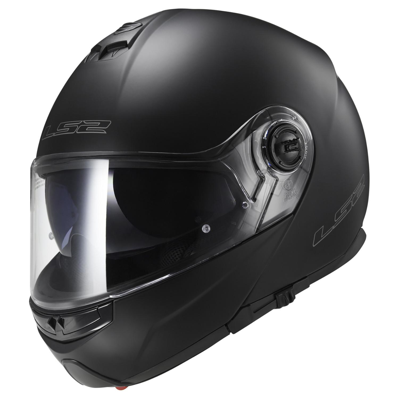 Casco Rebatible LS2 FF 352 Strobe Solid Negro Mate