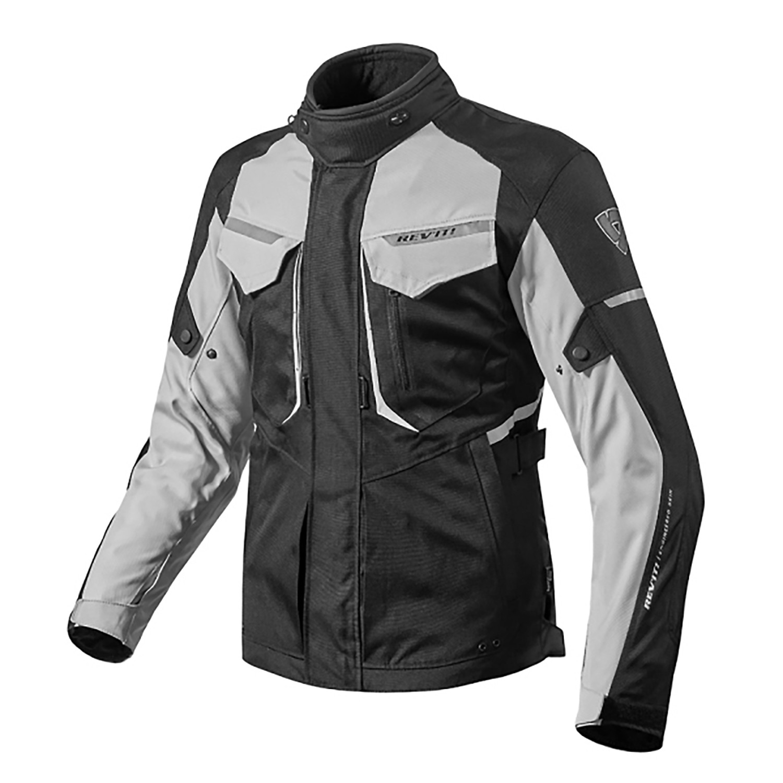 Campera Moto Protecciones Revit Safari 2 Abrigo Negro Gris