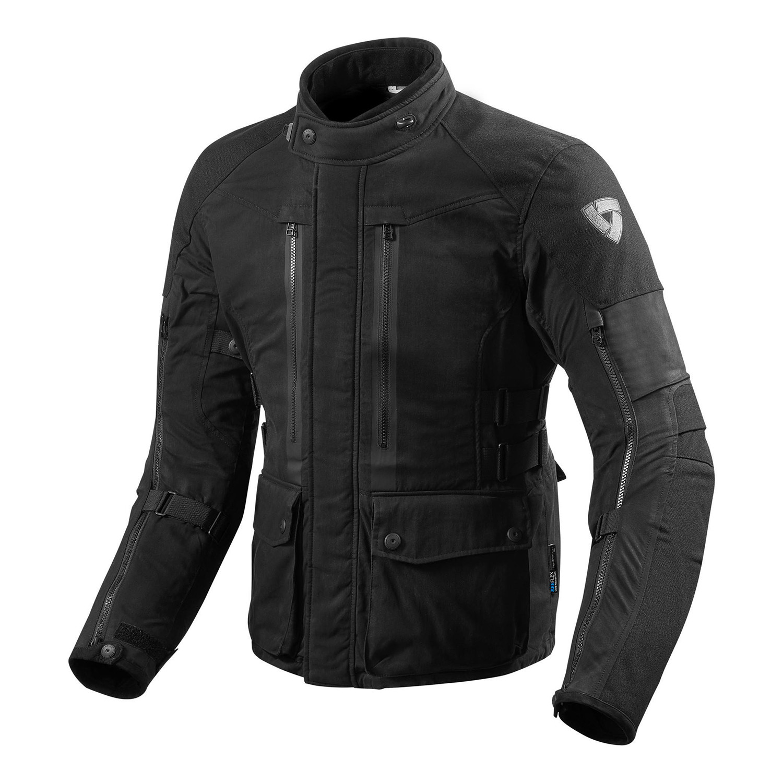 Campera Moto Revit Sand Urban Negro Cordura Protecciones