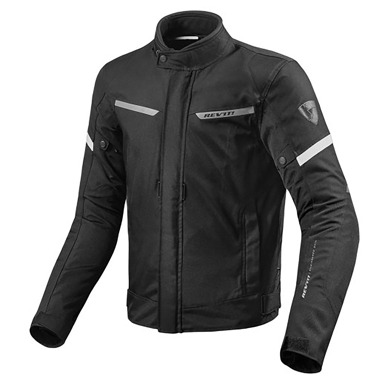 Campera Moto Revit Lucid Aventura Protecciones Negro Blanco