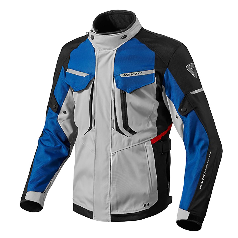 Campera Moto Protecciones Revit Safari 2 Abrigo Gris Azul Um