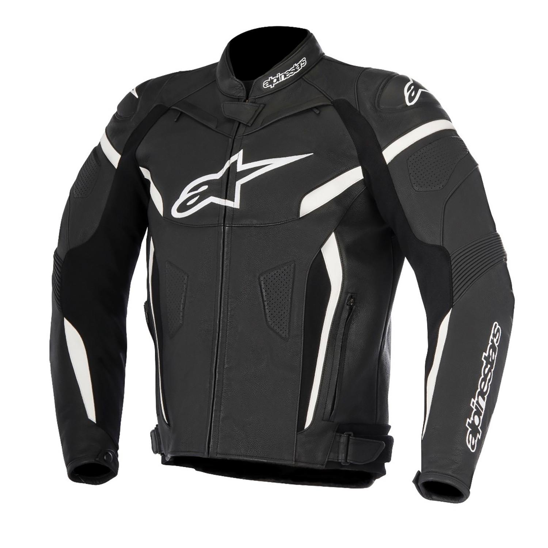 Campera Cuero Moto Alpinestars Gp Plus R V2 Negro Blanco Um
