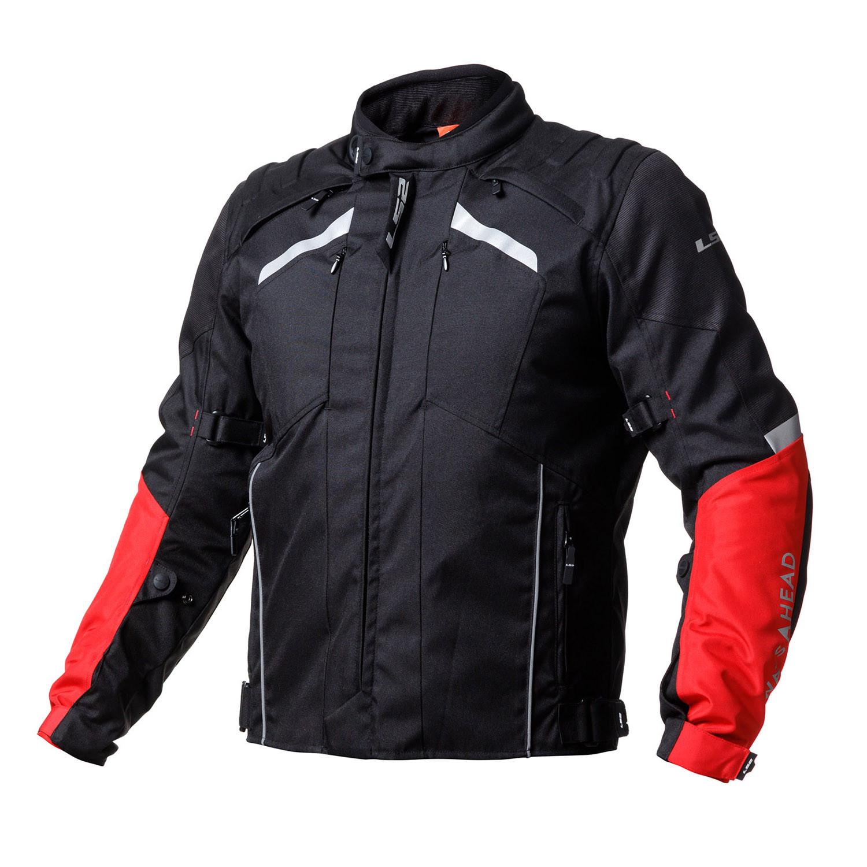 Campera de Turismo Ls2 Serra con Protecciones Negro Rojo