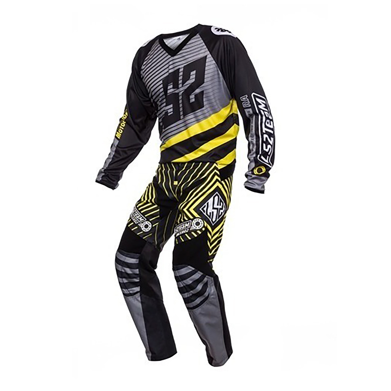 Conjunto Ls2 Mx Moto Team Negro/Amarillo