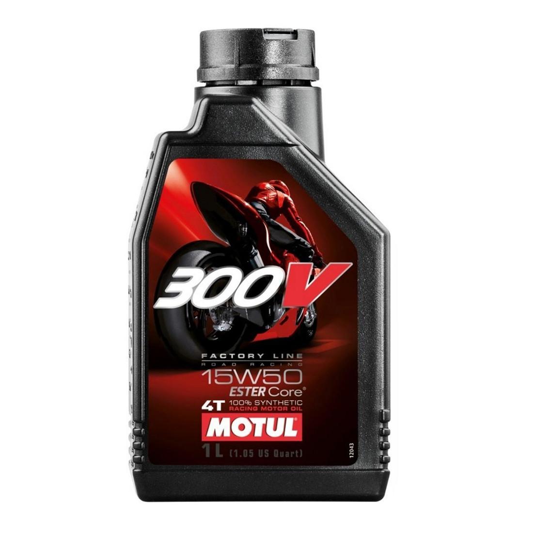 Aceite Motul 300V 15W50 4T Factory Sintético 1 Litro