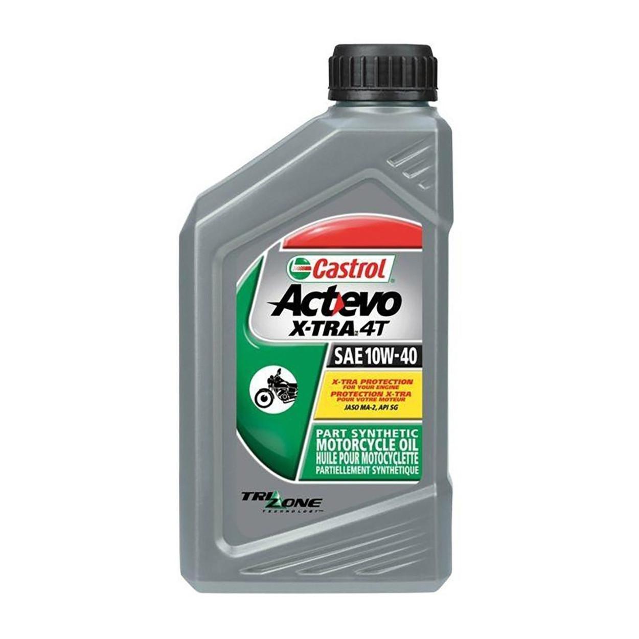 Aceite Castrol Actevo X-TRA 4T 10W40 Semi-Sintético 1 Litro