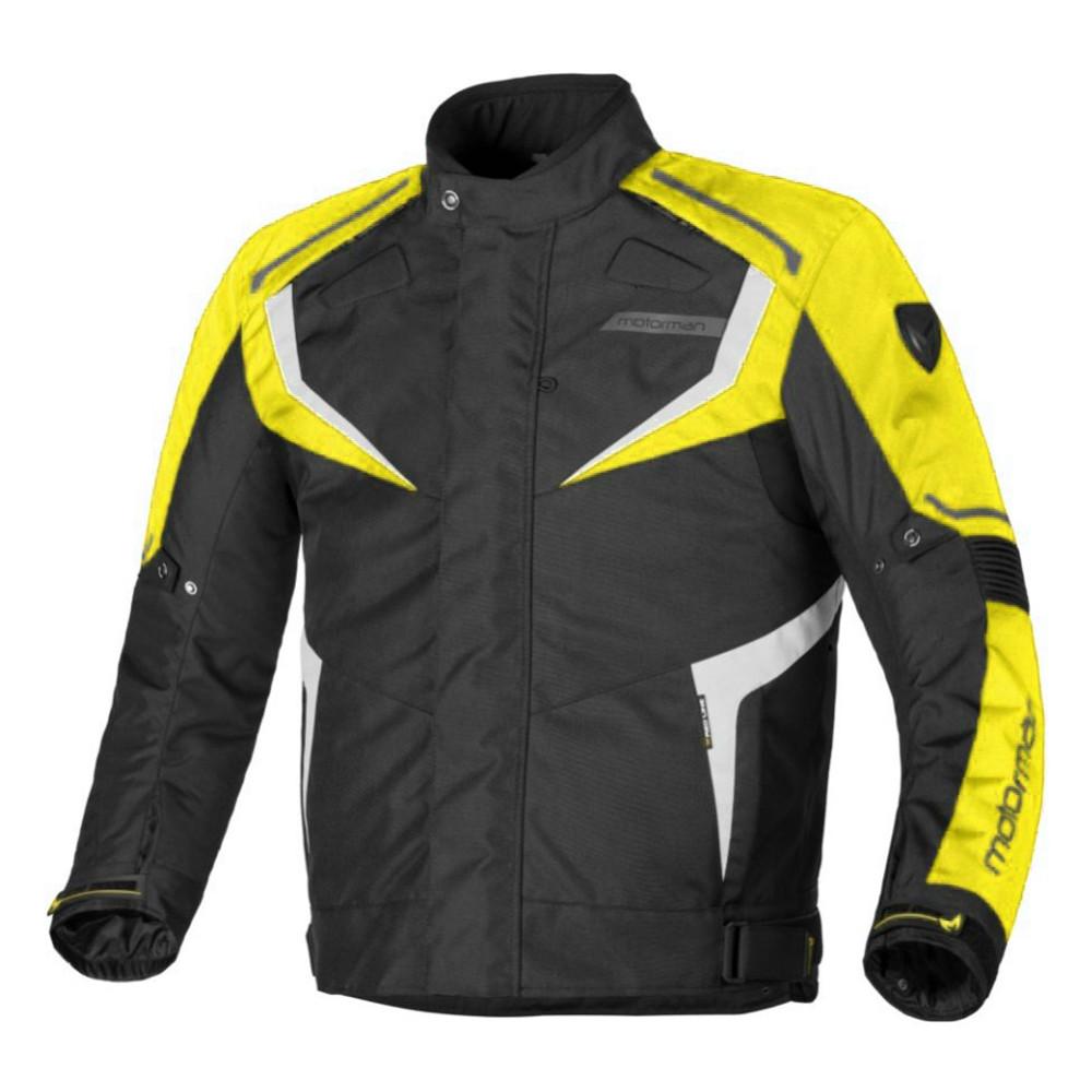 Campera Urbana de Turismo Motorman Atomic Negro Amarillo con Protecciones