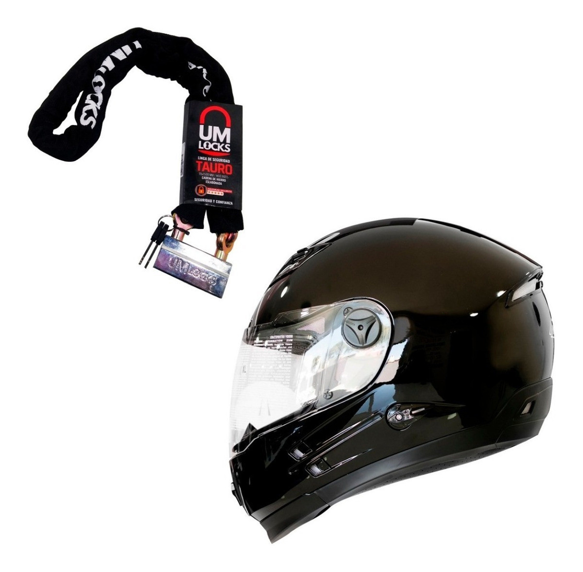 Combo Casco Integral Rod Watson + Linga Eslabonada UM Locks