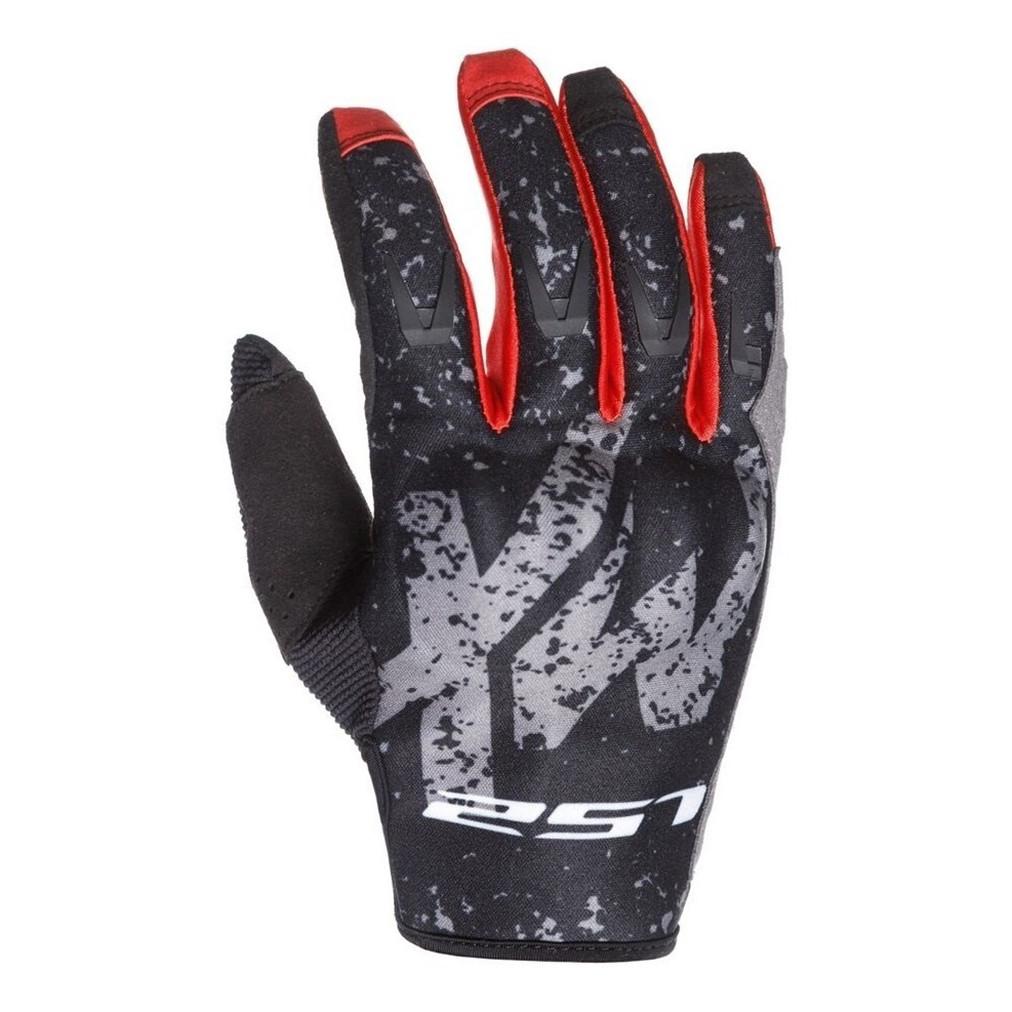 Guantes de Motocross Ls2 Thunder MX Gris Rojo