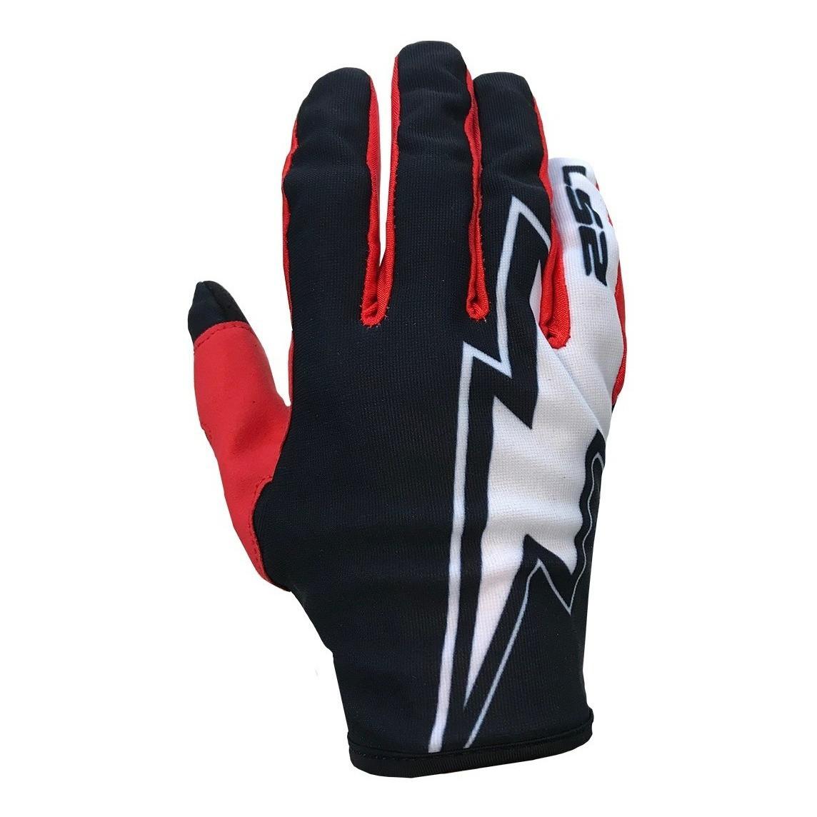 Guantes de Motocross Ls2 Ranger Flash MX Negro Rojo