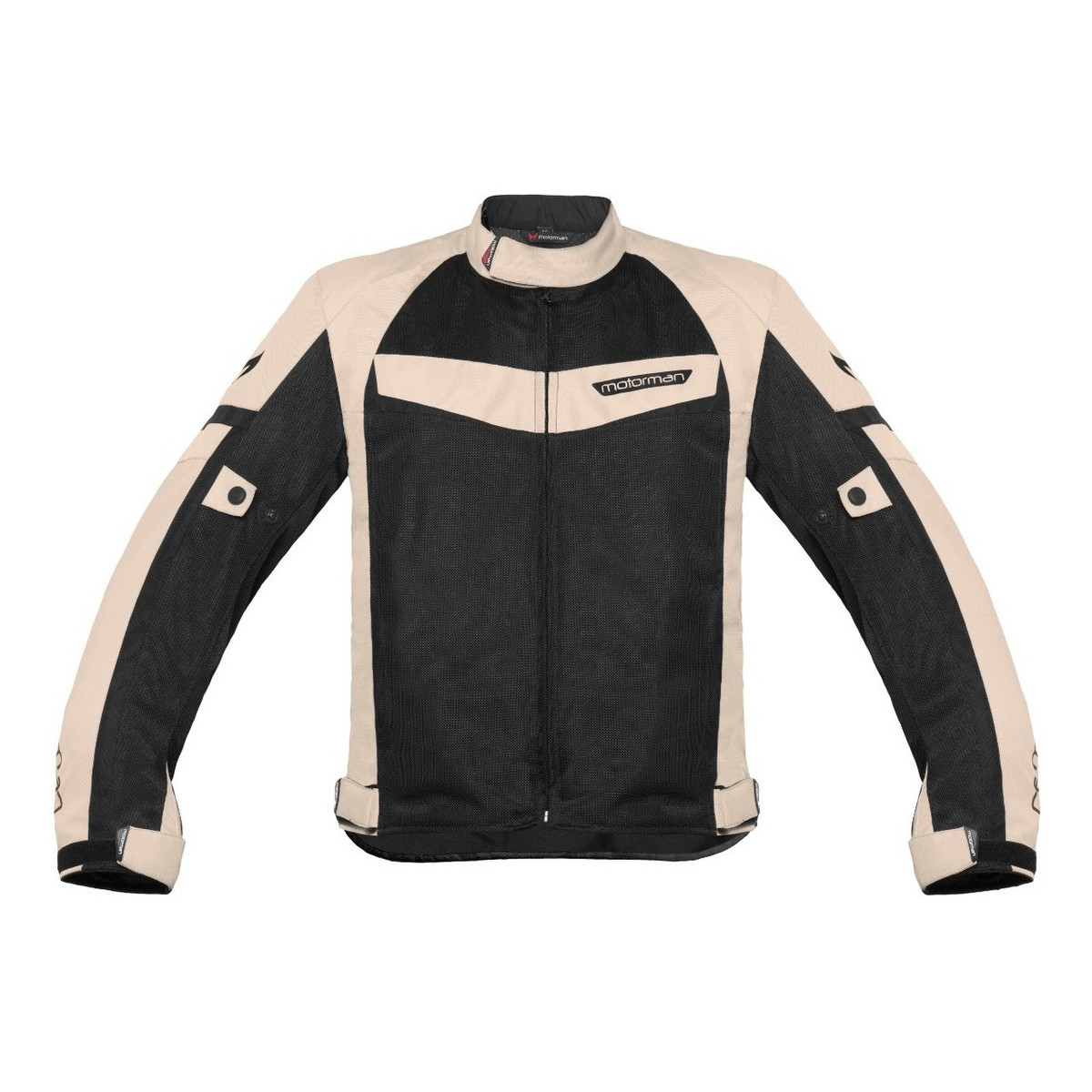 Campera Motorman Evo Air Proteccion Negro Sand