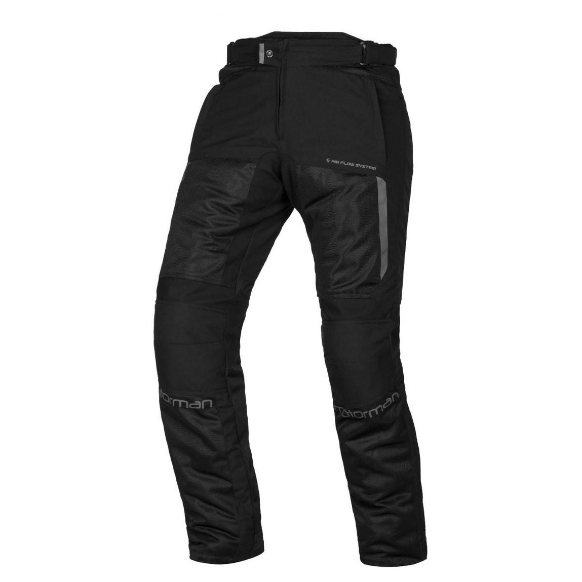 Pantalon de Verano Motorman Zonda Negro con Protecciones