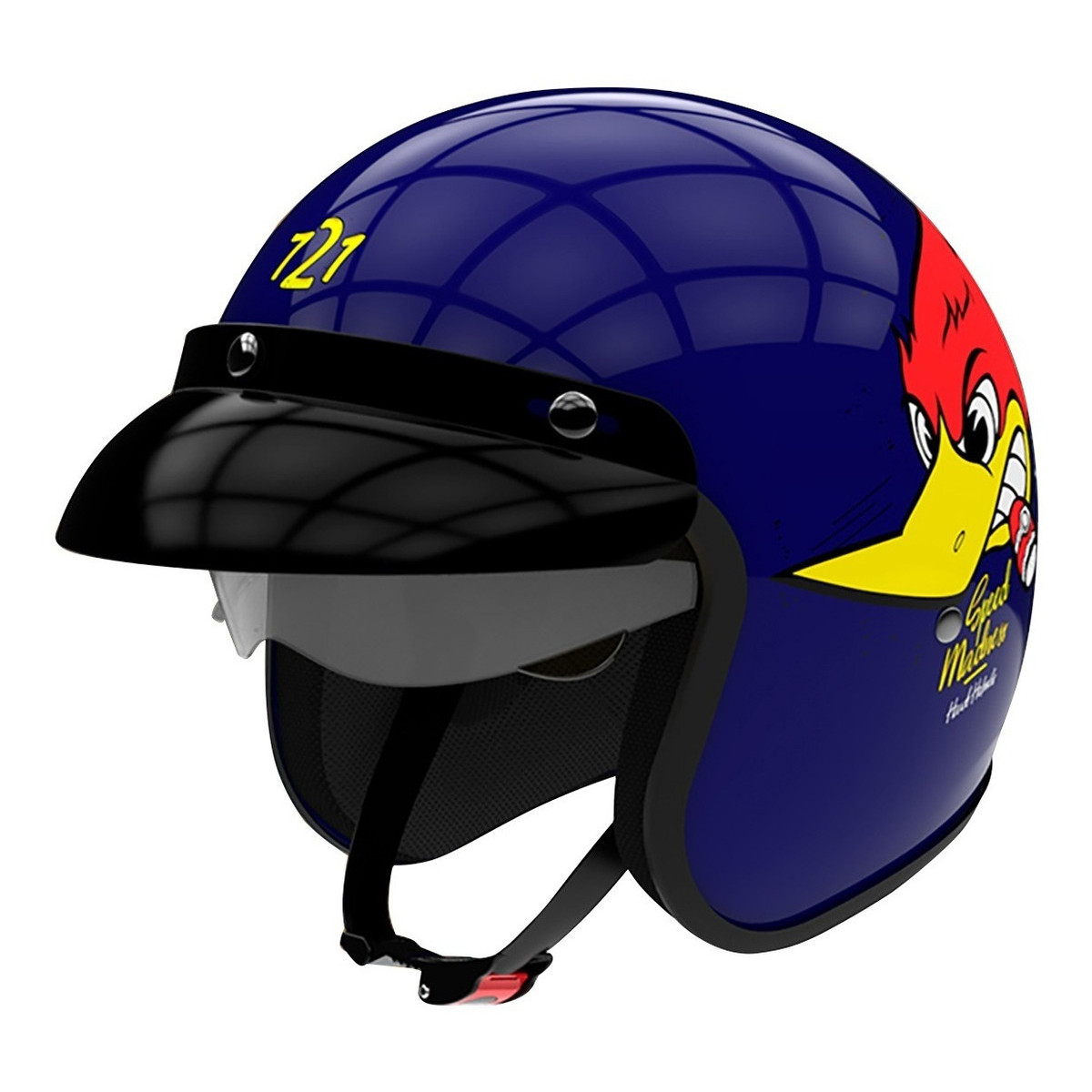 Casco Abierto Hawk 721 Speed Madness Azul
