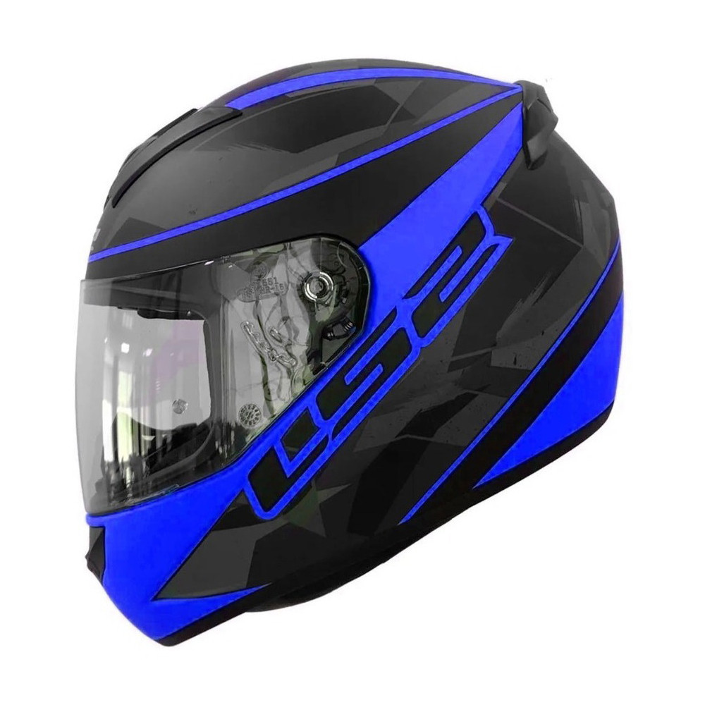 Casco Integral Ls2 Ff 352 Recruit Azul Negro Mate