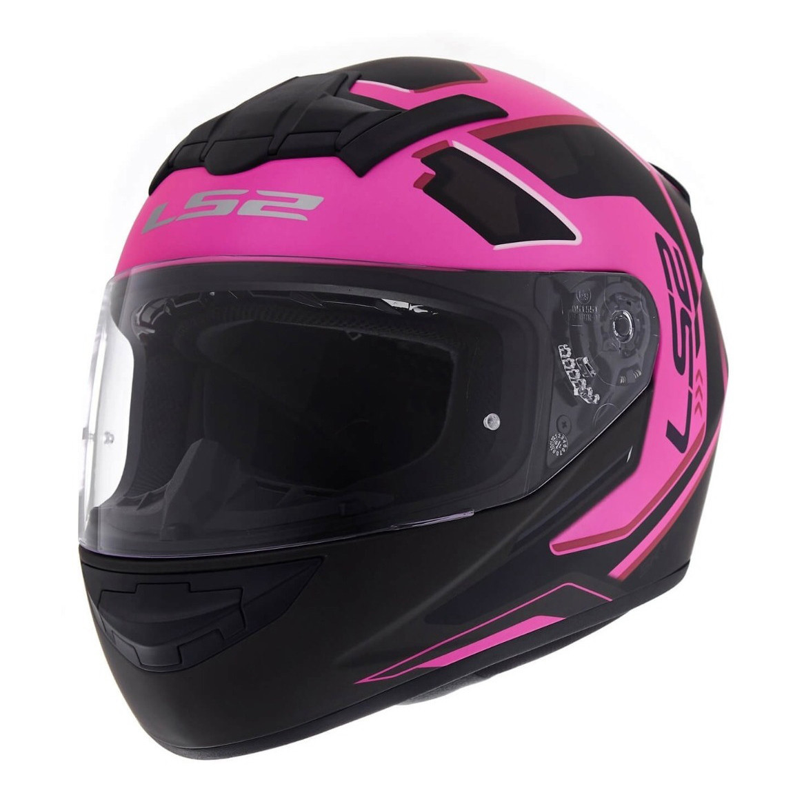 Casco Integral Ls2 Ff 352 Iron Face Rosa Negro Mate