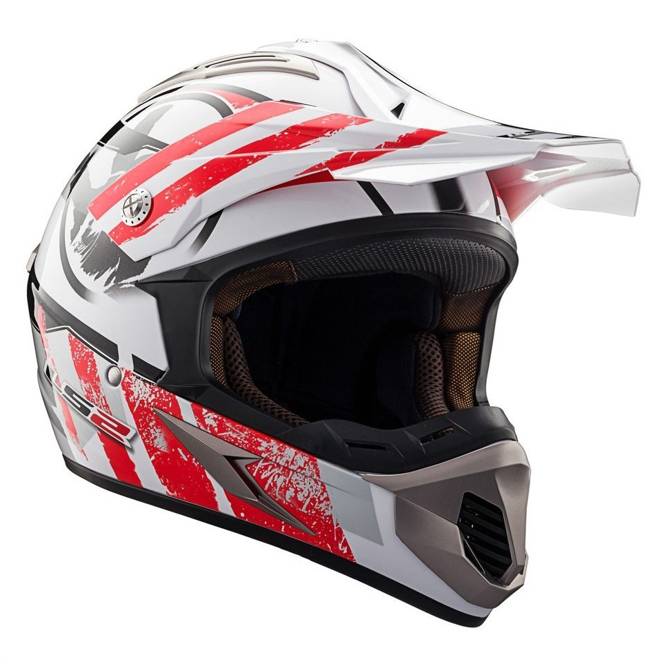 Casco Cross LS2 MX 433 Stripe Rojo