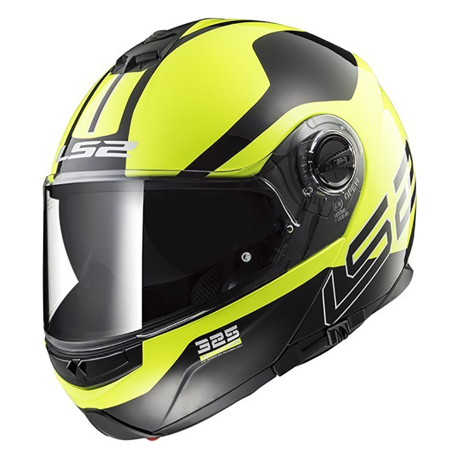 Casco Rebatible LS2 FF 325 Strobe Zone Amarillo