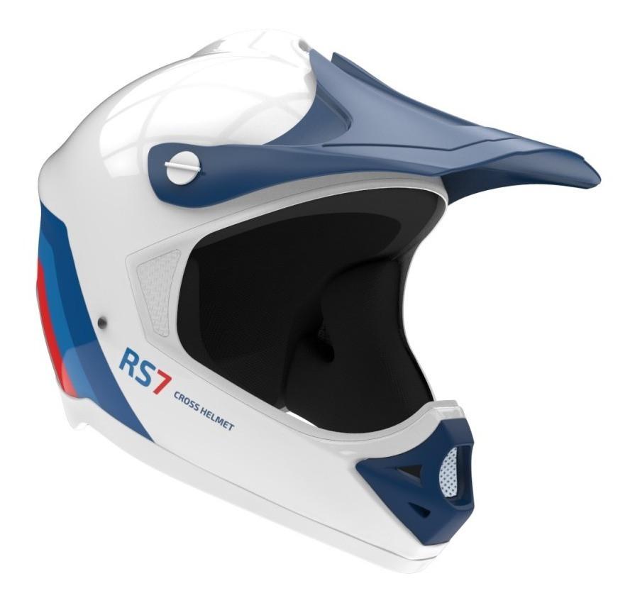 Casco Enduro Motocross Hawk Rs7 Blanco